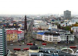Казань осенью и зимой