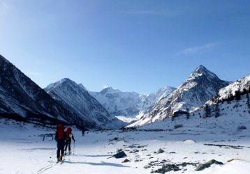 Алтай Белуха зимой