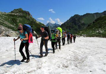 Туристы в походе
