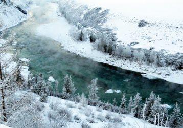 Алтай Катунь зимой