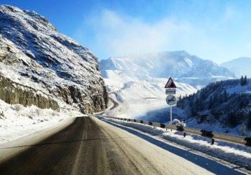 Чуйский тракт Алтай зима