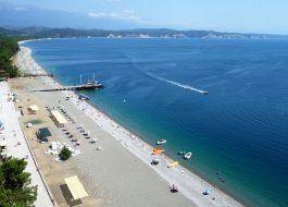 Курорт Пицунда пляж