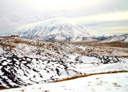 Камчатка вулканы зимой