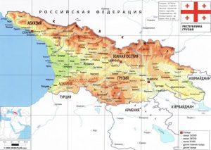 Карта Грузии