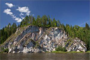 река чусовая - скала