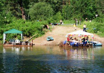 плоты на реке Серга